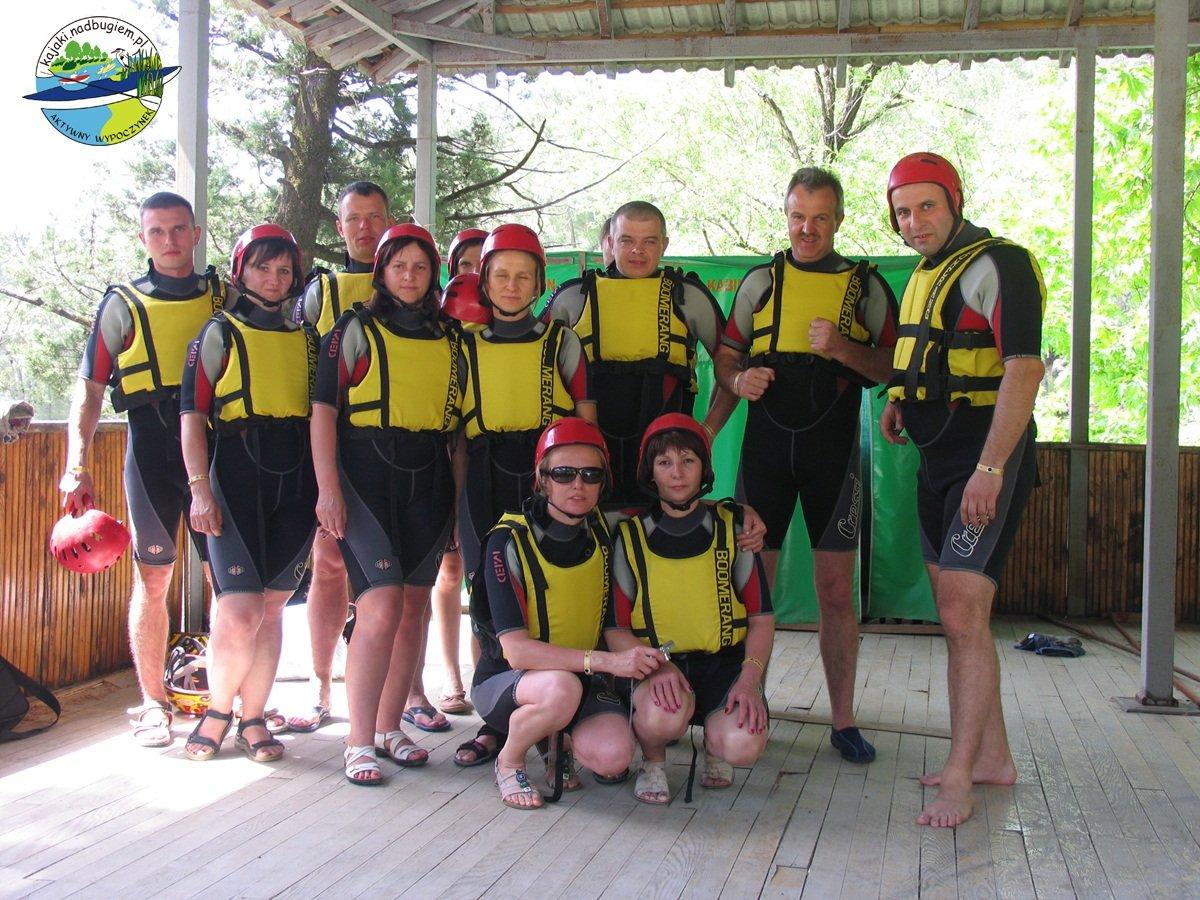 ekipa raftingu rzeką Köprülü