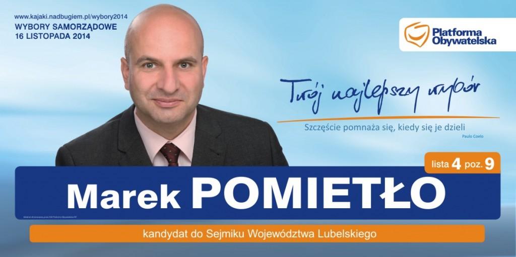 Marek Pomietło - kandydat do Sejmiku Województwa Lubelskiego