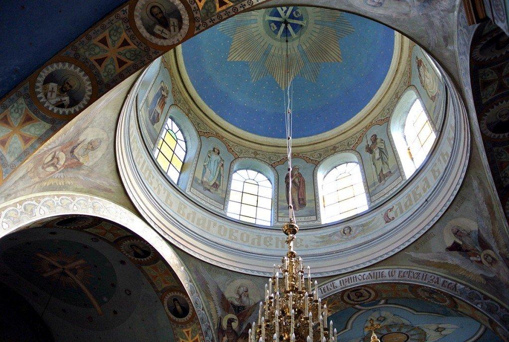 Kopuła w Monasterze w Jabłecznej . Fot. Marek Pomietło