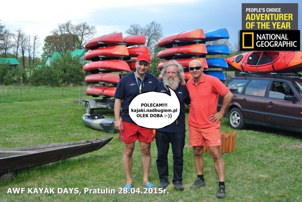 Wspólne zdjęcie z Olkiem Dobą podczas AWF Kayak Days