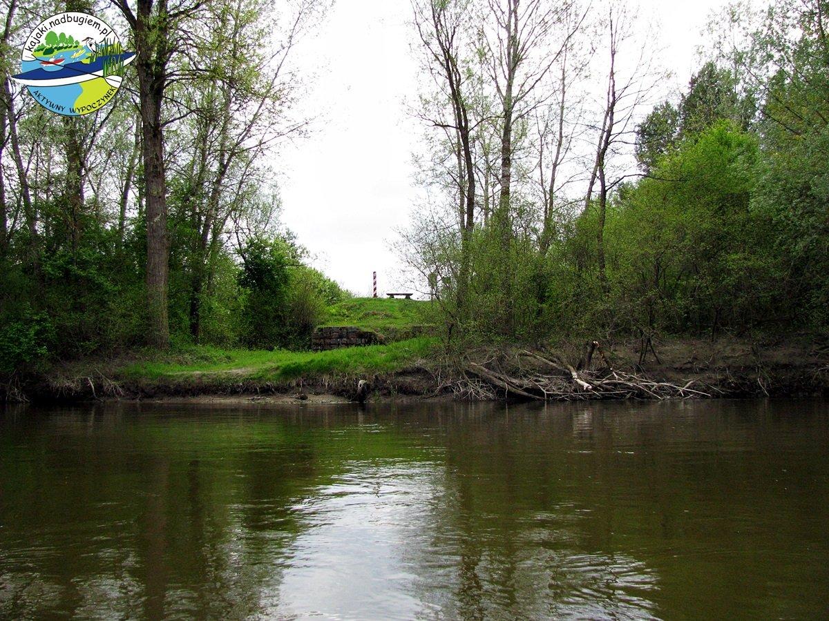 Miejsce lokalizacji pierwszego wodowskazu – pozostałości mostu kolejowego z 1887 r. Fot. Józek Tworek