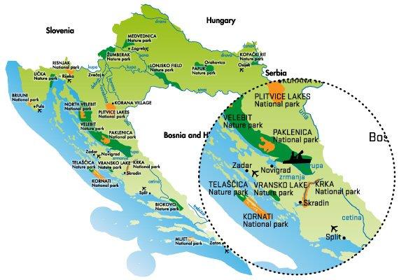 Raftrek_Zrmanja_kayak_map
